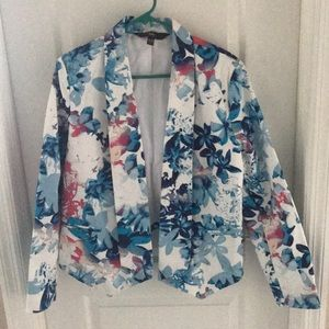 Ladies Floral Cotton Jacket-Size XL